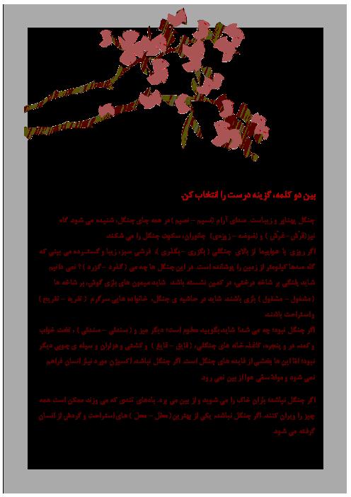 املای فارسی سوم دبستان | درس شانزدهم: اگر جنگل نباشد