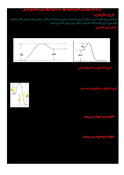 درسنامه فصل چهارم شیمی 3 همراه با مثال | قسمت اول: تا عوامل موثر بر تعادل های شیمیایی
