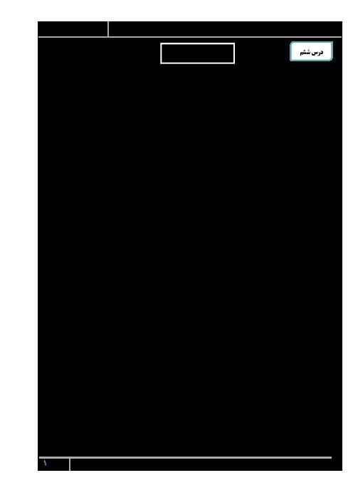 قرابت معنایی درس 6 فارسی دهم: شعر مهر و وفا