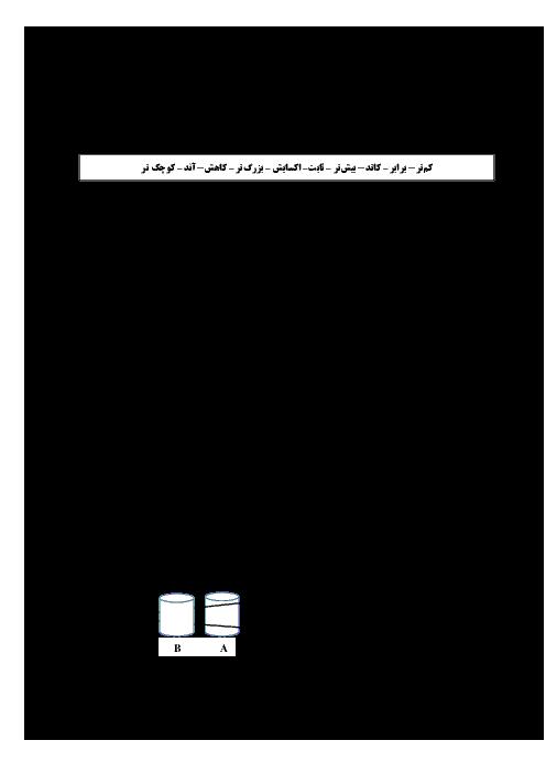 امتحان نیمسال اول شیمی دوازدهم دبیرستان مبین مشهد | دی 1397 + پاسخ