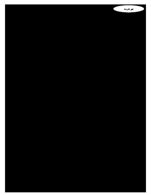 امتحان نوبت اول فارسی (2) پایه یازدهم دبیرستان دوره دوم دخترانه کمال دانشگاه صنعتی اصفهان - دی ماه 96
