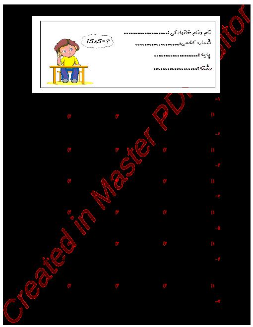 آزمون تستی ریاضی و آمار (3) دوازدهم دبیرستان امام سجاد (ع) | فصل اول + کلید