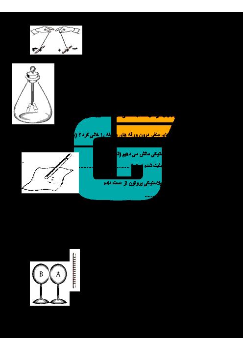 امتحان مستمر علوم تجربی پایه هشتم مدرسه حضرت امیرالمومنین (ع) | فصل 9 و 10