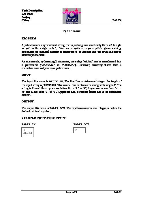 سؤالات دوازدهمین دوره المپیاد جهانی کامپیوتر با پاسخ تشریحی | سال 2000 (چین)