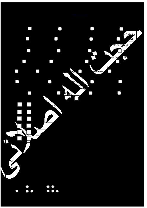 آزمون مدادکاغذی ریاضی ششم  دبستان - فصل 1: عدد و الگوهای عددی