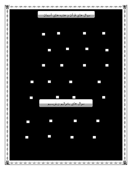 آزمون علمی دروس پایه پنجم دبستان   مهر 1396