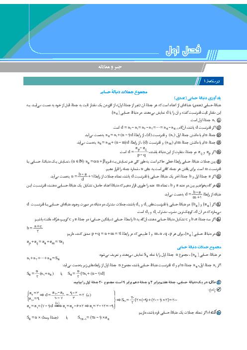 درسنامه آموزشی و 212 سوال تستی با پاسخ حسابان (1) پایه یازدهم رشته ریاضی | فصل اول- درس 1 و 2