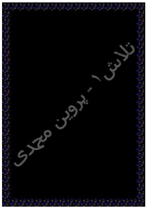 آزمون تستی مطالعات اجتماعی ششم دبستان  | فصل پنجم: پیشرفت علوم و فنون در دوره ی اسلامی