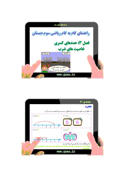 راهنمای گام به گام ریاضی سوم دبستان    فصل 4: ضرب و تقسیم (خاصیت های ضرب)