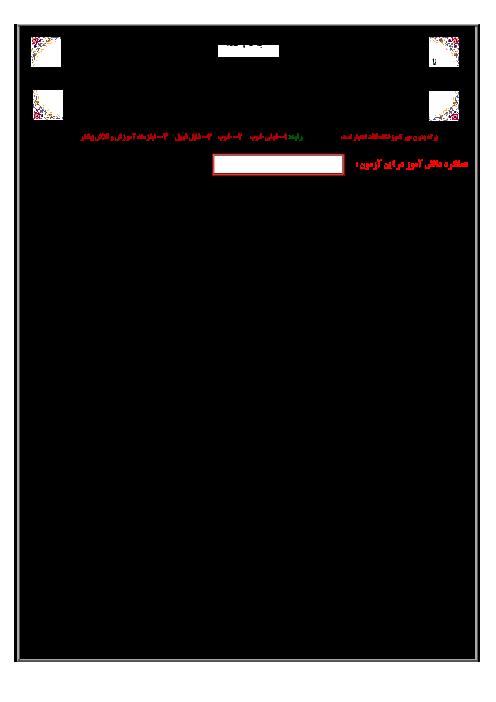 سوالات امتحان هماهنگ نوبت دوم املای فارسی ناحیه 4 قم شیفت صبح و عصر | خرداد 96