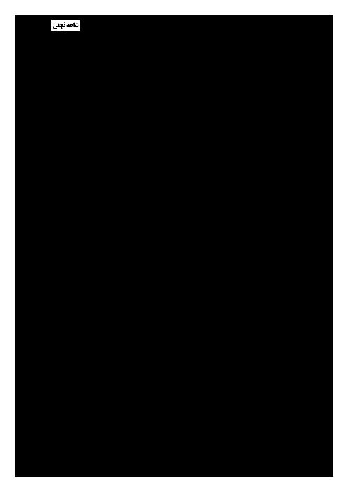سوالات امتحان نوبت اول ادبیات فارسی هشتم دبیرستان شاهد نجفی مشهد - دی ماه 95
