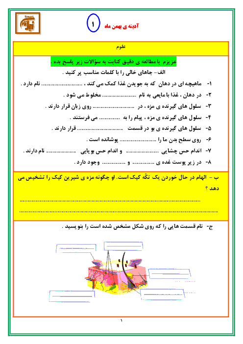 پیک آدینه هفته 1 و 2 و 3 و 4 بهمن ماه کلاس پنجم دبستان نیک نامان
