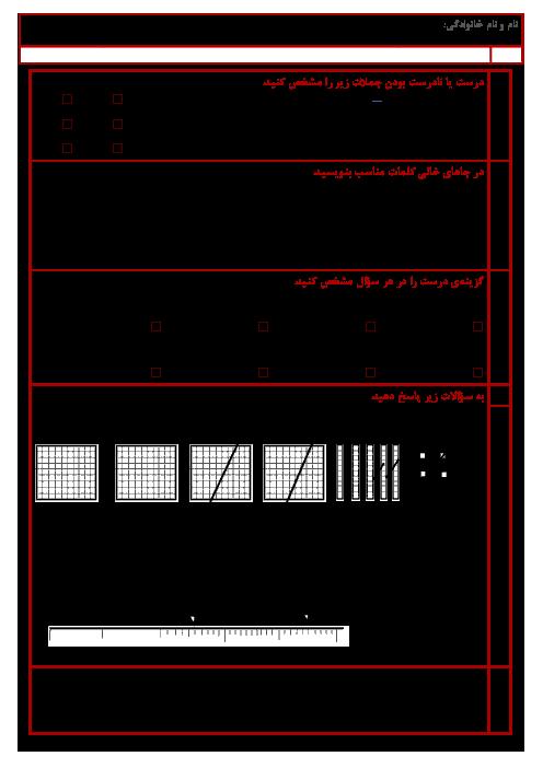 آزمون ریاضی کلاس ششم دبستان الزهرا | فصل 3: اعداد اعشاری