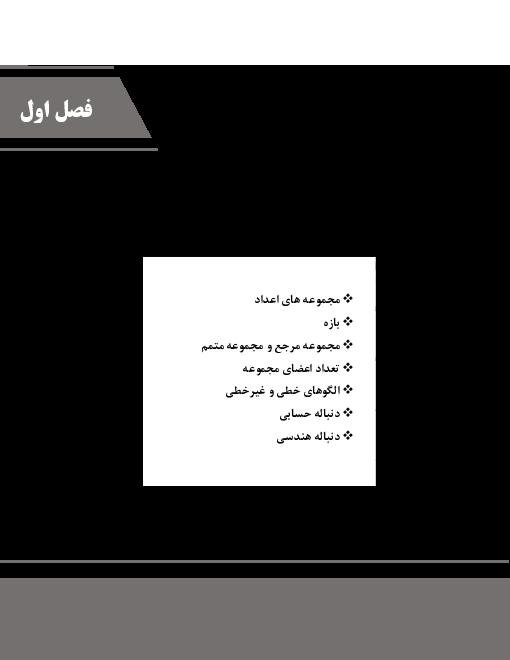 خلاصه درس و تمرین های درس به درس ریاضی دهم | فصل 1 تا 4