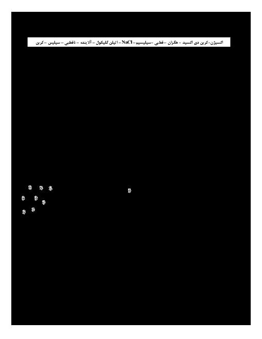 نمونه سوالات مفهومی فصل به فصل شیمی دوازدهم آمادگی امتحان نهایی و کنکور سراسری  + پاسخ تشریحی