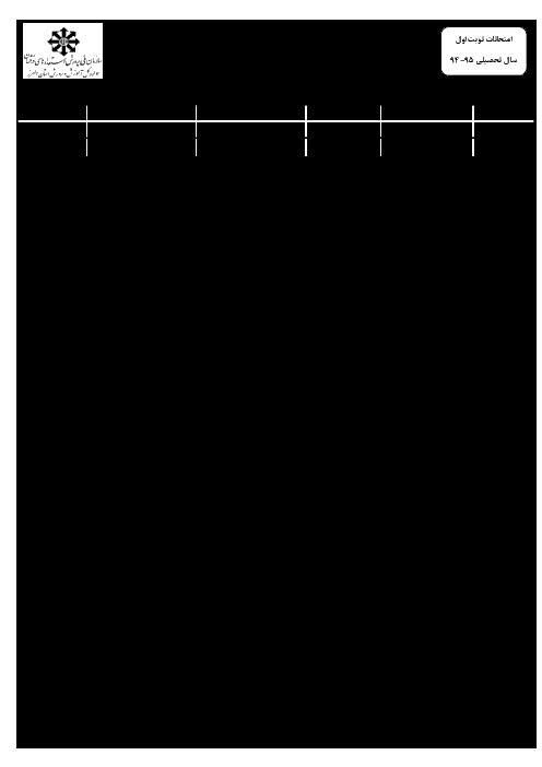 آزمون نوبت اول ادبیات فارسی هفتم همراه پاسخنامه تیزهوشان شهید باهنر کرج