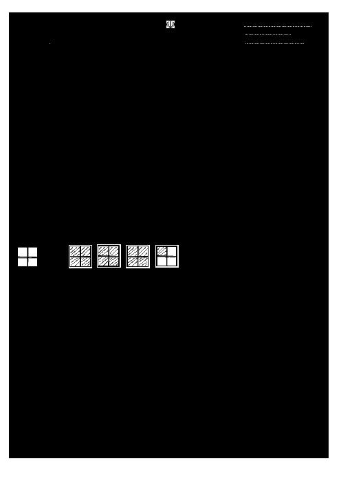 آزمونک ریاضی پنجم دبستان شهید چمران حاجی آباد   فصل 2: کسر