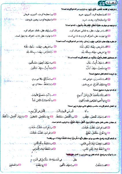 تستی یا پیشرفت تحصیلی عربی نهم    الدَّرْسُ الثّالِثُ:جِسْرُ الصَّداقَةِ
