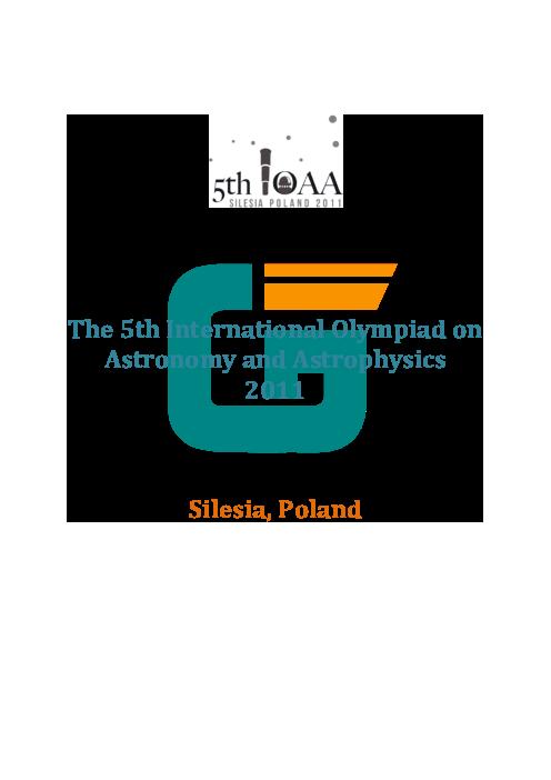 سؤالات پنجمین دوره المپیاد جهانی نجوم و اخترفیزیک | سال 2011 (لهستان)