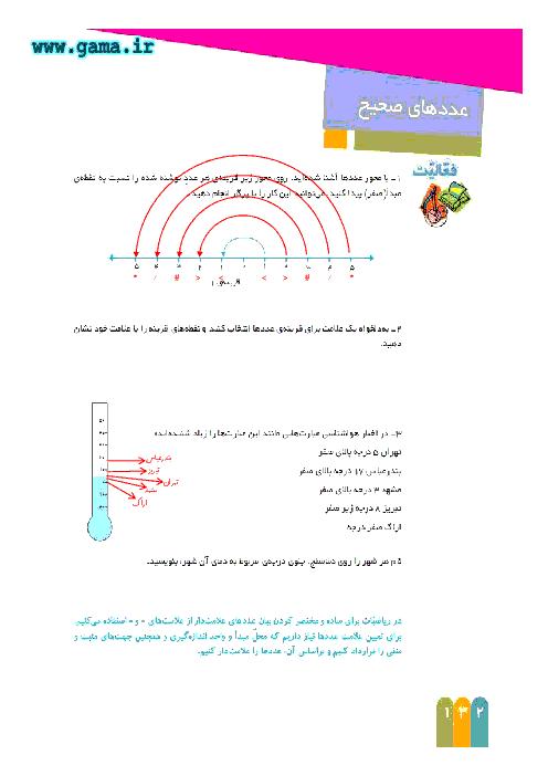راهنمای گام به گام ریاضی ششم | فصل7 : عددهای صحیح