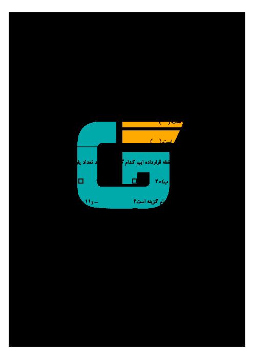 آزمون آمادگی نوبت دوم ریاضی پایه هفتم مدرسه شهید بابایی زاده   اردیبهشت 97