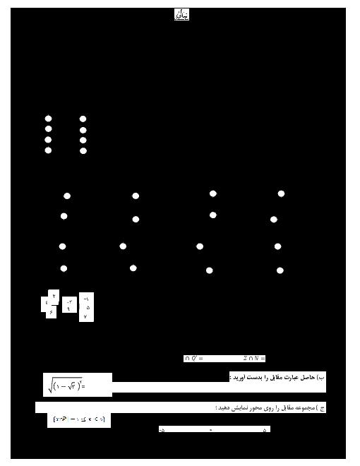 امتحان جبرانی پایانی ریاضی نهم هماهنگ استان قم | مرداد 1398