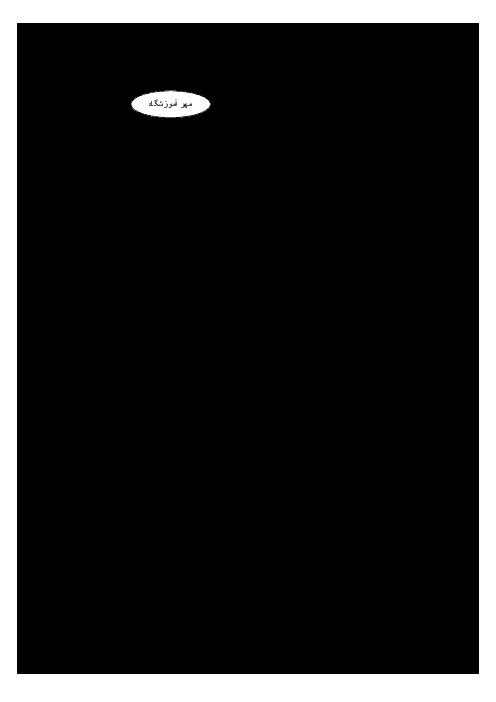 آزمون نوبت دوم فارسی (1) دهم مشترک همه رشته ها | دبیرستان محمد رسول الله (ص) منطقۀ دشتیاری (خرداد 96)