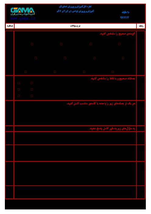 آزمون هماهنگ نوبت دوم ریاضی پایه ششم ابتدائی مدارس استان قم   خرداد 1397 (شیفت عصر) + پاسخ