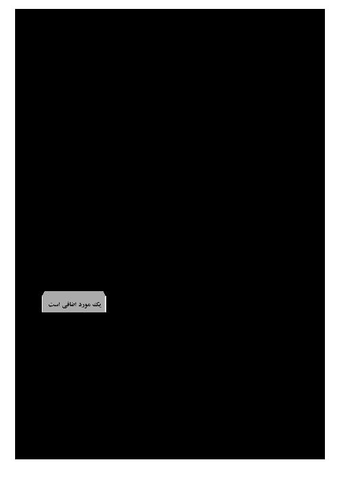 سوالات امتحان نوبت اول علوم تجربی هشتم مدرسۀ شهید لطفی بانه | دی 96: فصل 1 تا 7