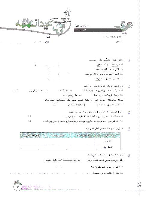 مرور عیدانه دروس پایه نهم   فروردین 1396