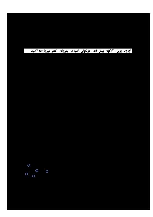 آزمون پیشنهادی نوبت دوم شیمی (1) دهم دبیرستان 17 شهریور | اردیبهشت 1398 + پاسخ