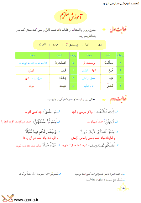 گام به گام آموزش قرآن نهم | پاسخ فعالیت ها و انس با قرآن درس 1: جلسه دوم (سوره زُخرُف)