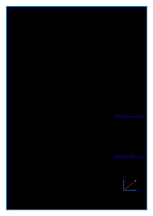 جزوه آموزشی فیزیک (3) ریاضی دوازدهم | فصل 1: حرکت بر خط راست