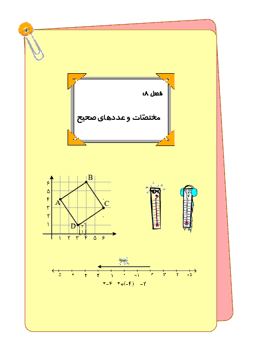 درس، تمرین و تست فصل (4) ریاضی ششم   مختصات