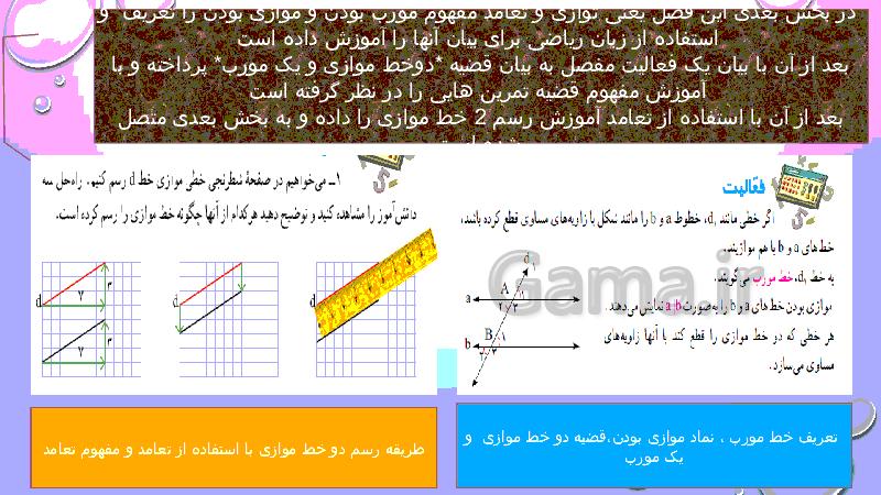 پاورپوینت بررسی مباحث هندسه در کتابهای ریاضی پایه اول تا دهم- پیش نمایش