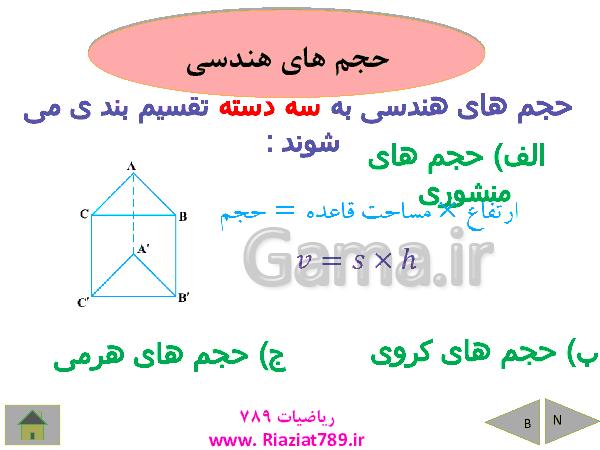 پاورپوینت درسنامه ریاضی نهم   فصل 8: حجم و مساحت- پیش نمایش