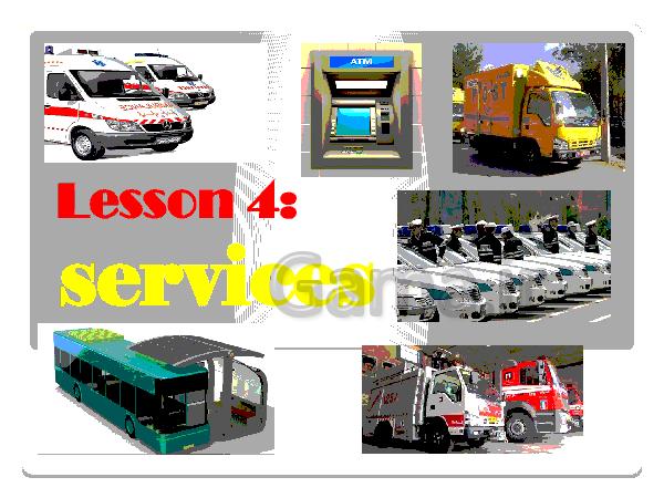 پاورپوینت زبان انگلیسی پایه نهم | درس چهارم: Lesson 4:services- پیش نمایش