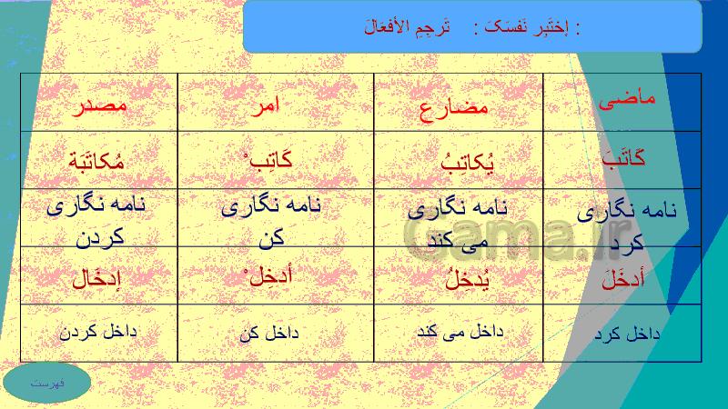پاورپوینت عربی دهم رشته ریاضی و تجربی   درس 4: التَّعَایُشُ السِّلمِیُّ- پیش نمایش