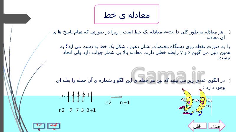 پاورپوینت فصل 6 ریاضی نهم | خط و معادله های خطی- پیش نمایش