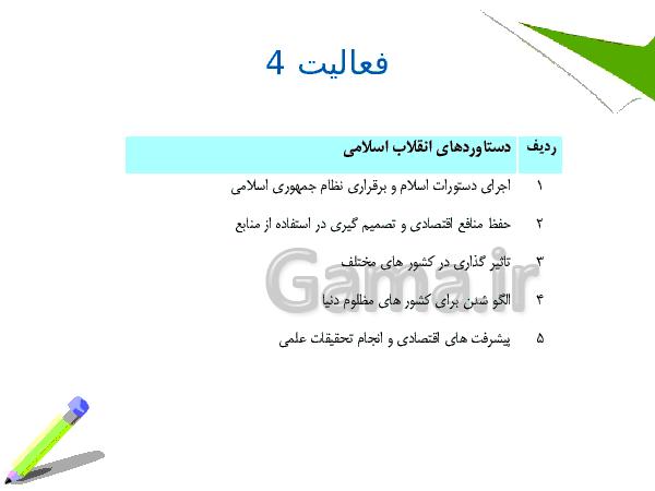 پاورپوینت آموزشی آمادگی دفاعی نهم | درس سوم :انقلاب اسلامی ، تداوم نهضت عاشورا- پیش نمایش