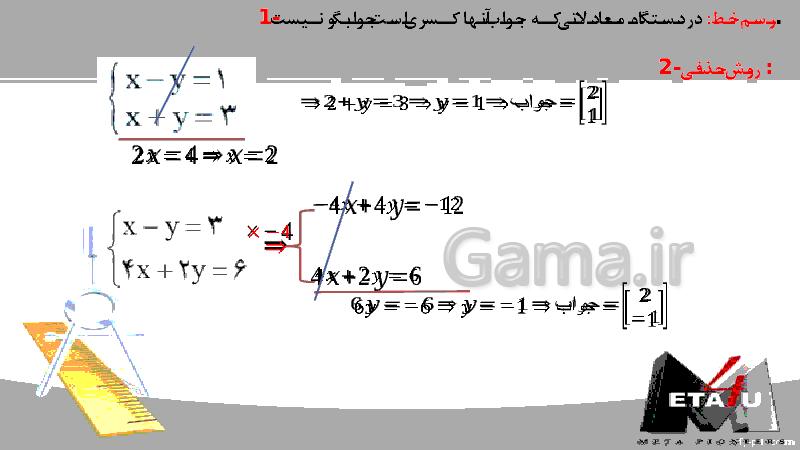 پاورپوینت آموزش فصل 6 ریاضی نهم | خط و معادله های خطی- پیش نمایش