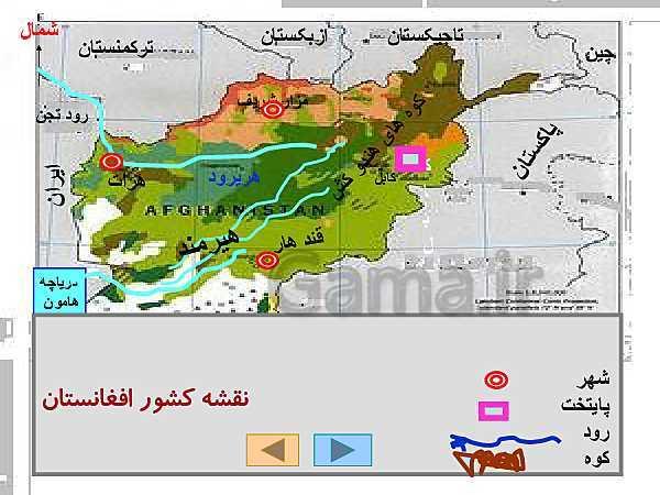 پاورپوینت مطالعات اجتماعی ششم دبستان | مطالعه موردی کشور همسایه افغانستان- پیش نمایش