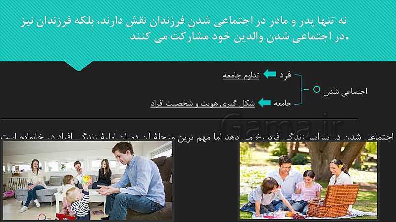 پاورپوینت درس کارکردهای خانواده | مطالعات اجتماعی نهم- پیش نمایش