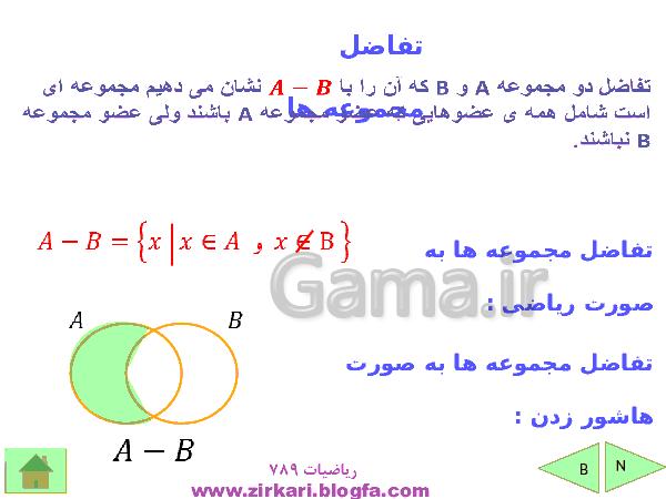 پاورپوینت آموزشی فصل اول ریاضی نهم | مجموعه ها- پیش نمایش