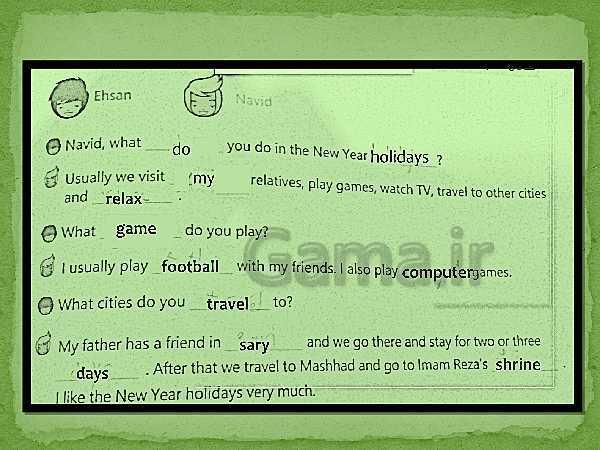 پاورپوینت گرامر درس 3 انگلیسی پایه نهم | Lesson 3:Festivals and Ceremonies- پیش نمایش