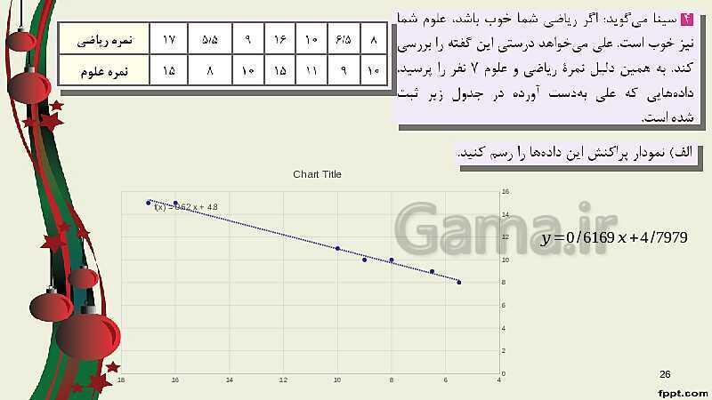 پاورپوینت ریاضی (2) فنی یازدهم هنرستان   پودمان 5: آمار توصیفی- پیش نمایش