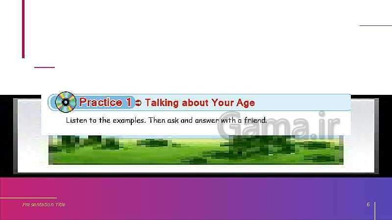 پاورپوینت انگلیسی هفتم    Lesson 3: My Age- پیش نمایش