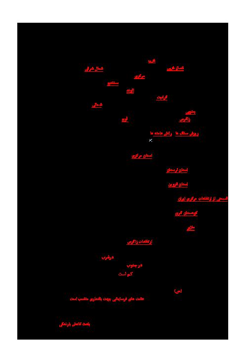 مجموعه سؤالات طبقهبندی شده جغرافیای استانشناسی همدان پایه دهم + جواب