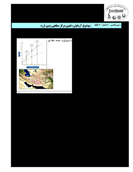 سوالات مسابقات آزمایشگاه علوم تجربی پایه دهم نواحی مختلف استان اصفهان
