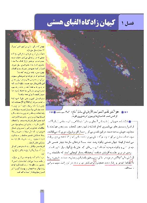 شیمی (1) پایه دهم زیر ذره بین | فصل اول: کیهان زادگاه الفبای هستی (تا صفحه 18)